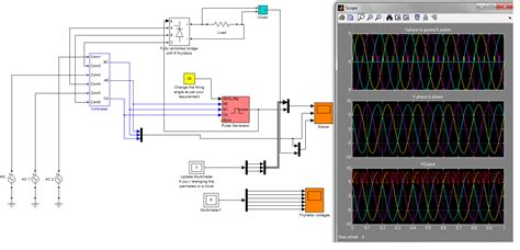 diode bridge rectifier in matlab three phase fully contolled bridge rectifier file exchange matlab central