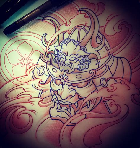 japanese oni mask tattoo designs amsterdam 1825 kimihito samurai mask design