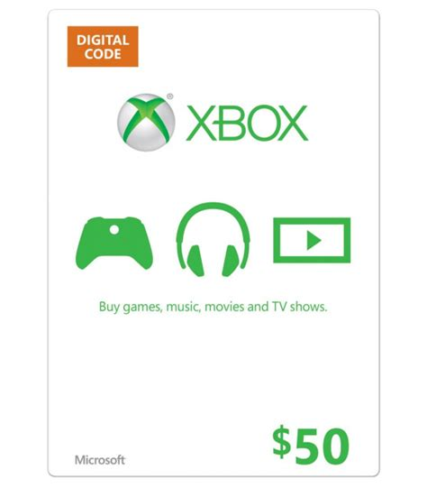 Xbox Gift Card Prices - 50 xbox gift card