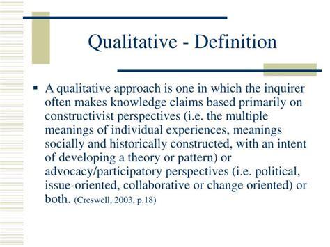 qualitative pattern definition ppt research methodologies powerpoint presentation id