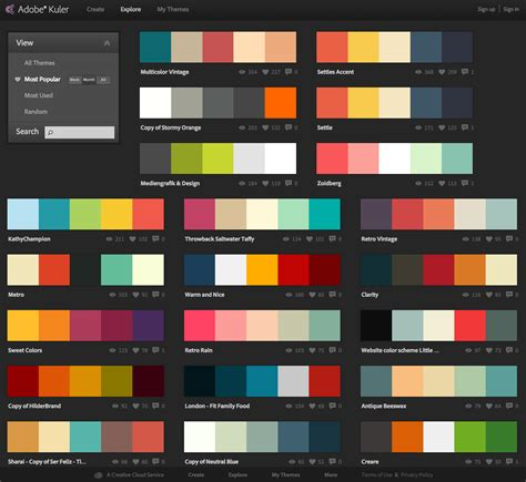 Website Colour Combinations | web design application color schemes shahid hashmi web