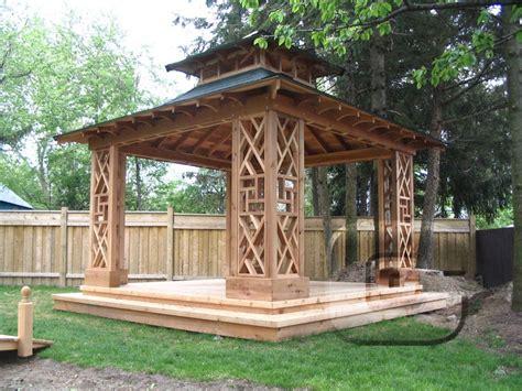 Garden Gazebo Ideas Wooden Garden Gazebo Plans Pergola Design Ideas