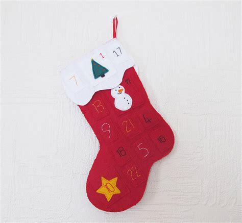 sewing christmas stocking kits advent calendar christmas stocking sewing kit by sarah