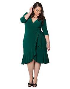 kiyonna women s plus size whimsy wrap dress