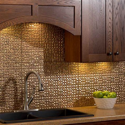 copper backsplash tiles for kitchen copper tile backsplash elegant kitchen design with