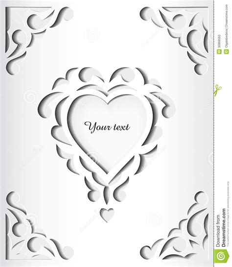 card cut out template paper cutout card template frame design stock vector