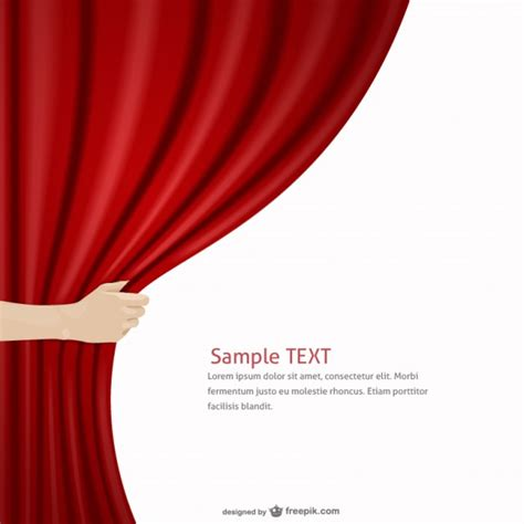 red curtain vector red curtain template vector free download