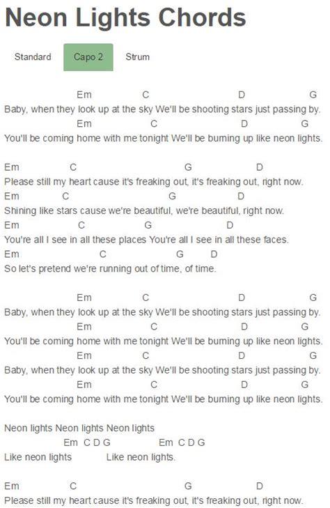 printable lyrics to neon lights guitar valerie guitar chords valerie guitar chords in