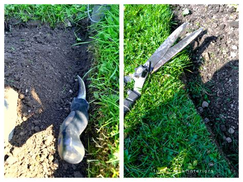 Landscape Edging Trench Mound Soil Away From Trench And Trim How To Edge