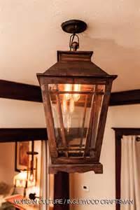 wooden light fixture wood lantern inglewood craftsman home