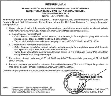 format surat pernyataan cpns bekraf lowongan cpns kemenkumham 2012 c u m i k r i t i n g