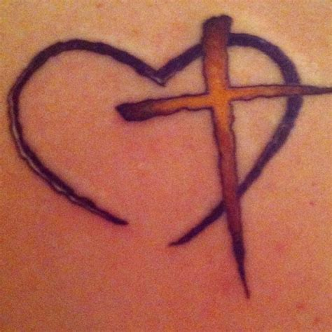 heartbeat tattoo with cross blue colourful heart tattoos design idea for men and women