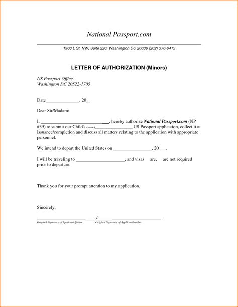 authorization letter sample general   vfh consent