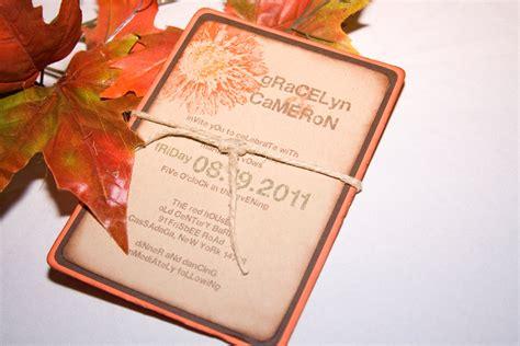 diy gerbera wedding invitations allcargos tent event rentals inc autumn wedding