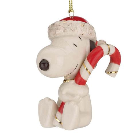 lenox snoopy s sweet treat christmas porcelain ornament