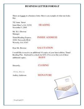 business letter format blank template writing