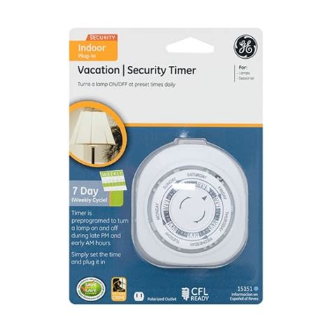 ge 7 day vacation security one outlet mechanical timer jasco