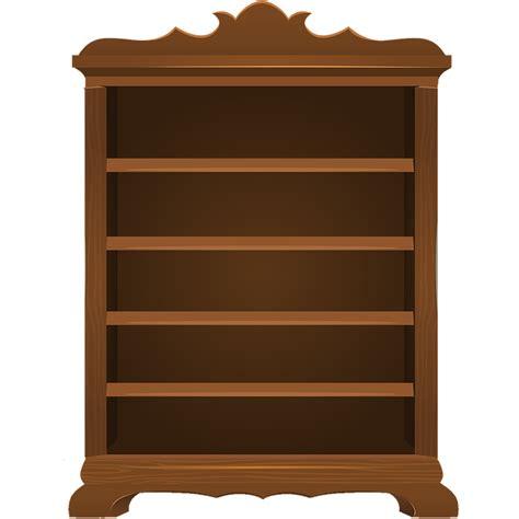 Antique Library Bookcase Ilustra 231 227 O Gratis Cesto Vazio Prateleira Estantes