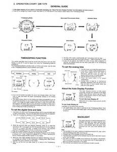 User manual for casio watch module 1376 owner s guide amp instructions