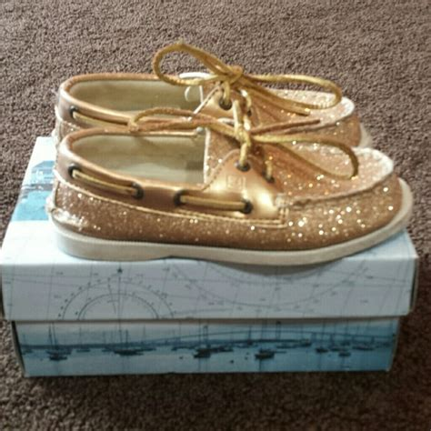glitter sperry boat shoes sperry top sider girls sperry top sider gold glitter