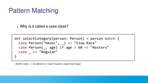 scala pattern matching parser scala from quot hello world quot to quot heroku scale quot