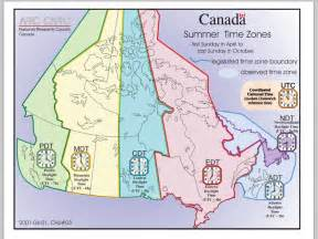 canadian time zones printable maps student activity