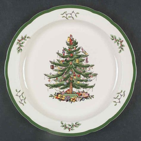 spode christmas tree green trim pattern spode christmas tree green trim chop plate round