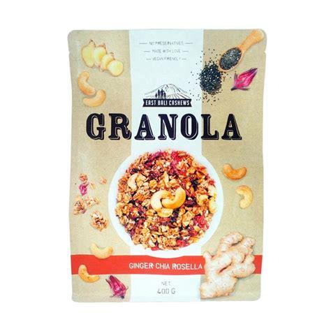 Dijamin East Bali Cashews Granola Coconut Banana 400 Gram promo harga makanan dan minuman makanan ringan deals terbaru pricearea