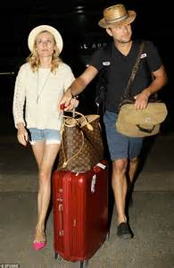Diane Kruger and Joshua Jackson fly into LA from Mexico