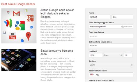 buat akaun gmail malaysia rahsia duit free cara nak buat blog