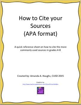 apa format numbers under 10 citing sources reference sheet apa format by amanda