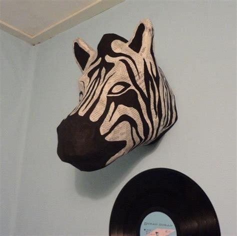 How To Make A Paper Zebra - paper mache zebra 183 how to make a taxidermy mount