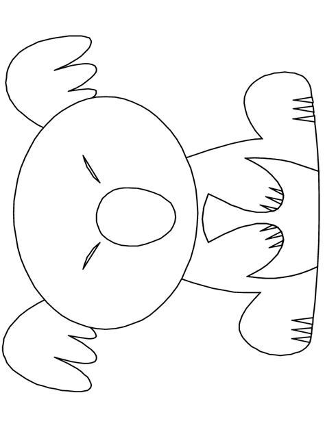 printable koala template koala coloring book pages koala party for megan
