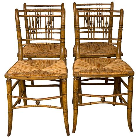 faux bamboo dining chairs at 1stdibs