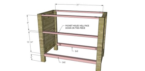 lateral file cabinet plans free diy furniture plans to build a pottery barn inspired