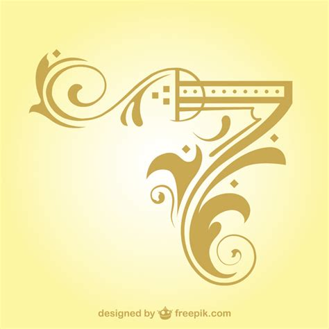 arabesque corner design element vector free download