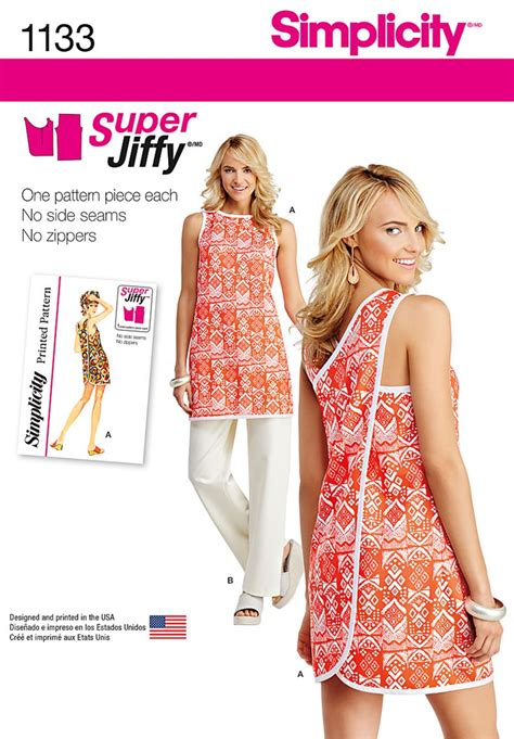 pattern sewing simplicity simplicity 1133 misses super jiffy tunic and pants