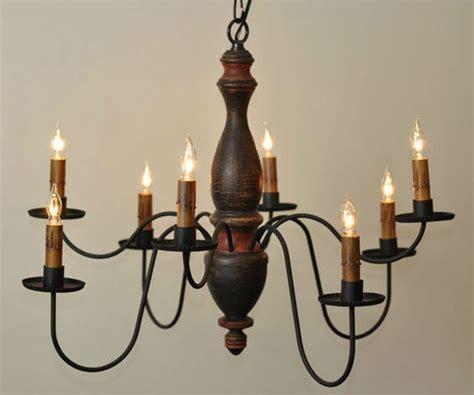 Primitive Chandelier Arlington 8 Arm Wooden Chandelier Light Primitive Country Colonial Lighting Primitive