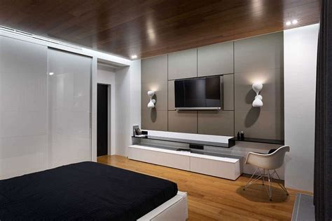 bedroom entertainment unit posh penthouse in kiev dazzles with exquisite use of gray