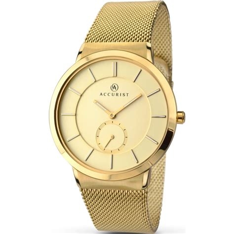 accurist s gold