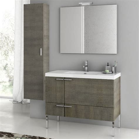 Bathroom Vanity With Storage Modern 39 Inch Bathroom Vanity Set With Storage Cabinet Glossy White Zuri Furniture