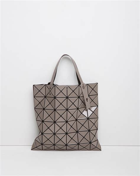Bao Bao Issey Miyake B169 bao bao issey miyake lucent mesh tote in gray lyst
