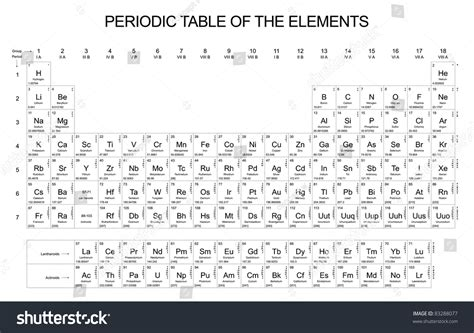 periodic table of the elements stock photo 83288077