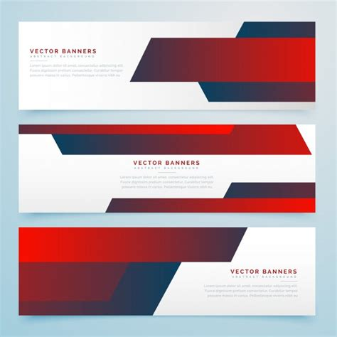 design banner elegant elegant red banner design vector premium download