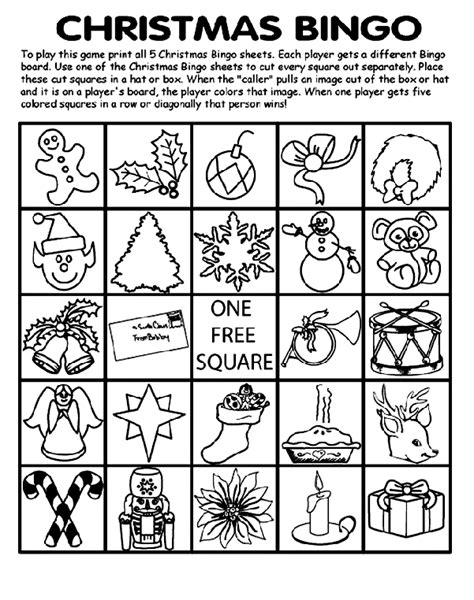 printable christmas bingo cards black and white christmas bingo board no 1 coloring page crayola com