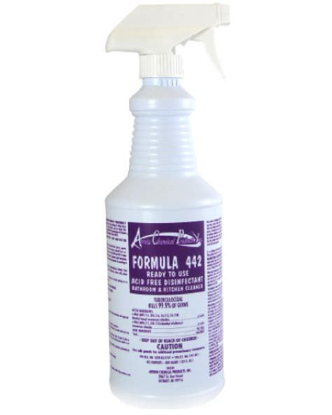 442 formula 442 acid free disinfectant bath kitchen