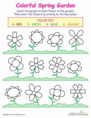 free printable worksheets flowers counting flowers spring flowers worksheets and math