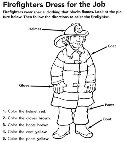 coloring pages printable fire safety week firefighter coloring page fire safety week pinterest