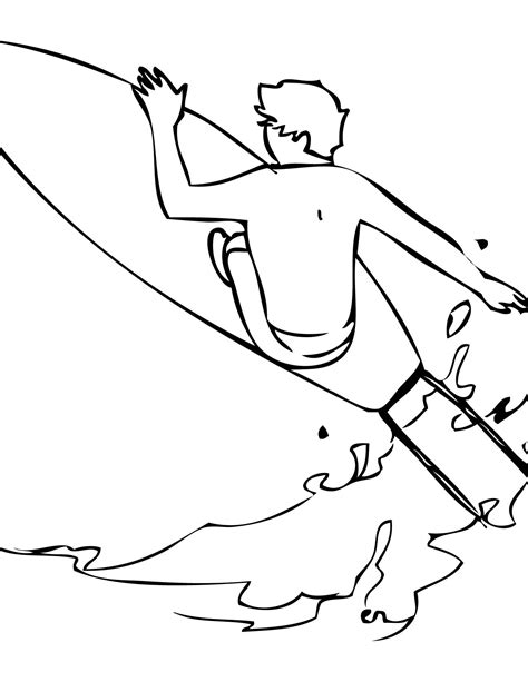 surfer coloring pages surfing coloring page handipoints