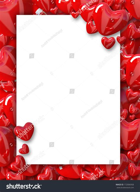 valentines picture frame s day background frame with hearts stock photo